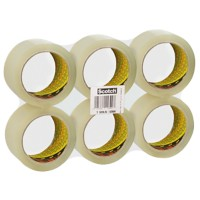 Scotch Verpakkingstape Low Noise 48 mm x 66 m Transparant 6 Rollen