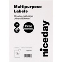 Niceday Universele etiketten 210 x 148 mm Wit 200 Etiketten