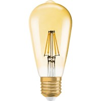 Osram 1906 EDISON GOLD LED Lamp Dimbaar Glashelder E27 7 W Warm Wit