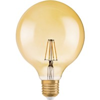 Osram 1906 GLOBE GOLD LED Lamp Dimbaar Glashelder E27 7 W Warm Wit