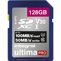 Intergral SDXC Geheugenkaart UltimaPRO V30 128 GB