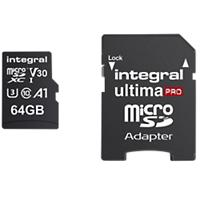 Intergral Micro SDXC Geheugenkaart UltimaPRO V30 64 GB