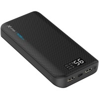XLayer Powerbank Pure Carbon 20000 mAh Zwart