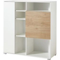 GERMANIA Kast Paseo Wit, eiken 800 x 370 x 1.200 mm