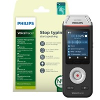 Philips digitale audiorecorder Voicetracer DVT2810 zilver, zwart