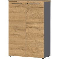 GERMANIA Kast Agenda HOME laden Grafiet, Eiken 800 x 400 x 1.2 mm