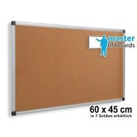 Master of Boards Notice Board Wandmontage Kurk Bruin 450 x 660 x 15 mm