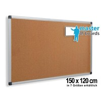 Master of Boards Notice Board Wandmontage Kurk Bruin 1200 x 1500 x 15 mm