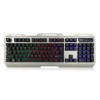 Ewent PL3310 Bedraad Gaming Toetsenbord QWERTY US English USB-A 1,5m kabel Zwart, zilver