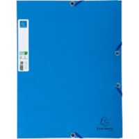Exacompta 3 flap map 56122E Clean'safe A4 Blauw Karton 24 x 32 cm.
