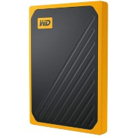 WD Draagbare Solid State Drive My Passport Go 2 TB Zwart, amber