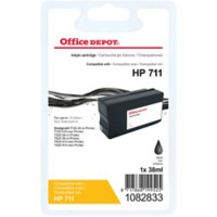 Office Depot Compatibel HP CZ129A Inktcartridge 711 Zwart