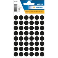 HERMA Multi-purpose labels ø 12mm black 240 pcs Gekleurde stippen Zwart 13 x 13 mm 10 Pakken à 2400 Etiketten