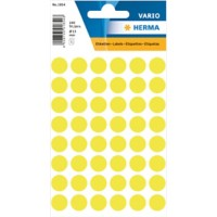 HERMA Multi-purpose labels ø 12mm luminous yellow 240 pcs Gekleurde stippen Geel 13 x 13 mm 10 Pakken à 2400 Etiketten
