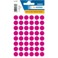 HERMA Multi-purpose labels ø 12mm pink 240 pcs. Gekleurde stippen etiketten Roze 13 x 13 mm 10 Pakken à 2400 Etiketten