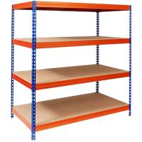 office marshal Breedvakstelling Blauw, oranje 2.000 x 1.500 x 800 mm