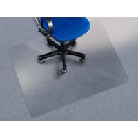 office marshal Stoelmat voor vloerbedekking First Class PC Transparant 1200 x 1200 mm