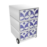 Paperflow Easybox Mobiel ladeblok met 4 lades 642x390x436 mm Faience Design
