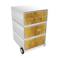 Paperflow Easybox Mobiel ladeblok met 4 lades 642x390x436 mm Gold Design