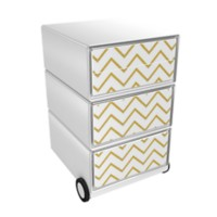 Paperflow Easybox Mobiel ladeblok met 4 lades 642x390x436 mm Gilded Waves design