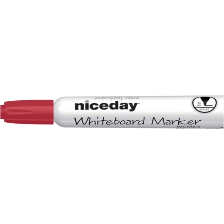 Niceday WBM2.5 Whiteboardmarker Kogel Rood