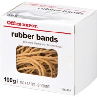 Office Depot Elastieken 1,5 x 150mm Ø 100mm Naturel 100g