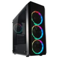 Joy-IT Gaming PC 14 Intel Core i9-10900X 32GB GDDR4 500GB SSD 4TB HDD Windows 10 64 Pro RTX 2080 TI 11 GB Zwart