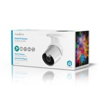 Nedis SmartLife Wi-Fi-camera Buitengebruik Full HD 1080p IP65 Cloud / MicroSD Wit, zilver