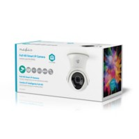 Nedis SmartLife Wi-Fi-camera Buitengebruik Full HD 1080p IP65 Cloud / MicroSD Wit
