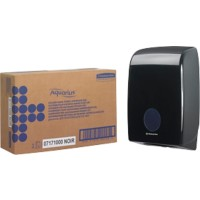 AQUARIUS Hand Towel Dispenser Interleaved Plastic Black 13.6 x 26.5 x 39.9 cm Muurbevestiging