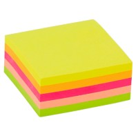 Office Depot Zelfklevende notes Kubus 51 x 51 mm Kleurenassortiment Neon 250 Vellen