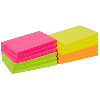 Office Depot Zelfklevende Notes 127 x 76 mm Kleurenassortiment Neon 12 Blokken van 100 Vellen