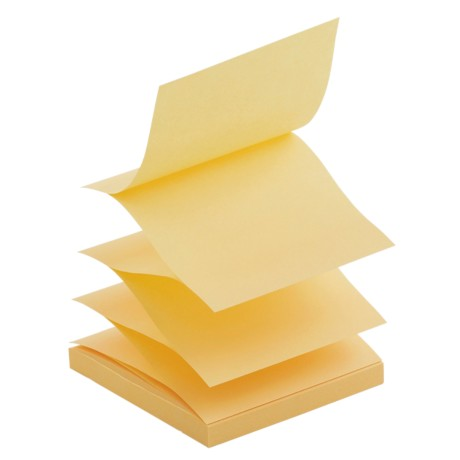 Office Depot Sticky Z-Notes Geel Blanco niet geperforeerd 76 x 76 mm 76 x 76 mm 75 g/m² 6 stuks à 100 vellen