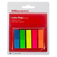 Office Depot Indexen Kleurenassortiment Blanco 12 x 45 mm 1,2 x 10,5 x 4,5 cm 5 Stuks à 25 Strips