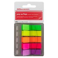 Office Depot Pop Up Indexen Kleurenassortiment Blanco 12 x 45 mm 5 Stuks à 40 Strips