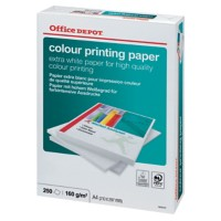 Office Depot Colour printing Papier A4 160gsm Wit 250 Vellen