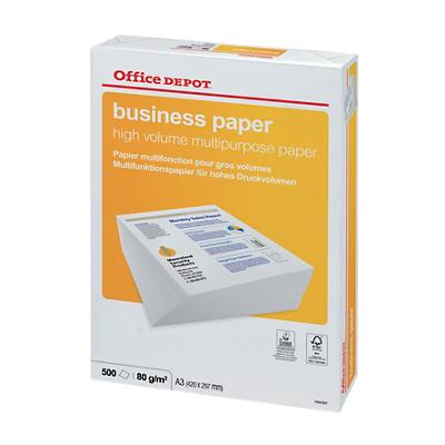 Office Depot Business Multifunctioneel print-/ kopieerpapier A3 80 gram Wit 500 vellen