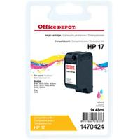 Office Depot Compatibel HP 17 Inktcartridge C6625A 3 kleuren