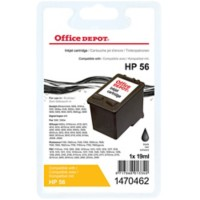 Office Depot Compatibel HP 56 Inktcartridge C6656A Zwart