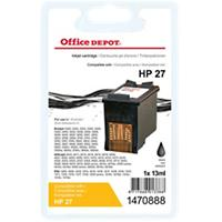 Office Depot Compatibel HP 27 Inktcartridge C8727A Zwart