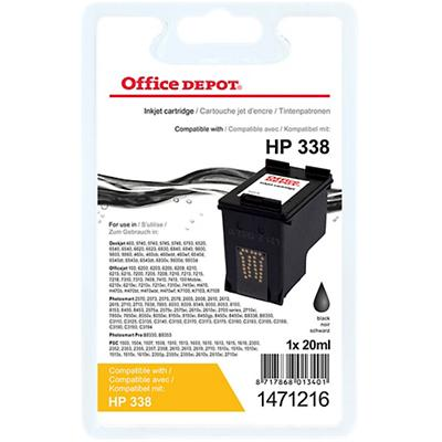 Office Depot Compatibel HP 338 Inktcartridge C8765EE Zwart