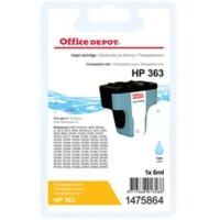 Office Depot Compatibel HP 363 Inktcartridge 1475864 Licht Cyaan