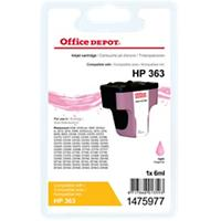 Office Depot Compatibel HP 363 Inktcartridge 1475977 Lichtmagenta