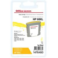 Office Depot Compatibel HP 88XL Inktcartridge C9393A Geel