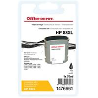 Office Depot Compatibel HP 88XL Inktcartridge C9396A Zwart
