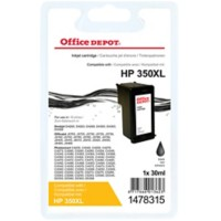 Office Depot Compatibel HP 350XL Inktcartridge CB336EE Zwart