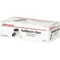 Office Depot Papierklemmen 25mm Zwart Pak van 12