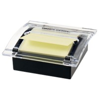 Office Depot Z-Notes Dispenser Zwart met Sticky Z-Notes Geel 76 x 76 mm 100 Vellen