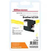 Office Depot Compatibel Brother LC123Y Inktcartridge Geel