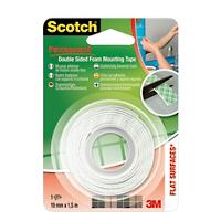 Scotch Dubbelzijdige Mounting Tape Wit 19mm x 1.5m Permanent